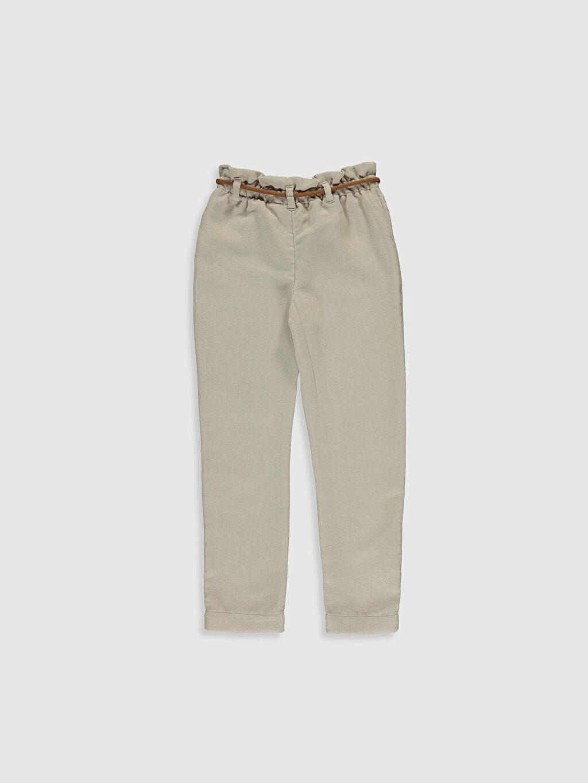 %100 Polyester Pantolon Düz Kadife Standart Normal Bel Kız Çocuk Kadife Pantolon