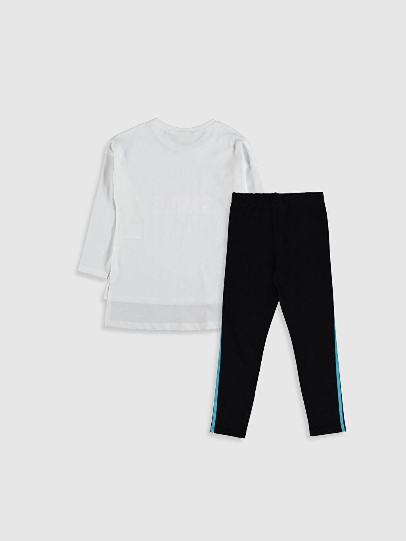 %100 Pamuk %97 Pamuk %3 Elastan %100 Pamuk Düz Takım Penye Kız Çocuk Pamuklu Tişört ve Tayt