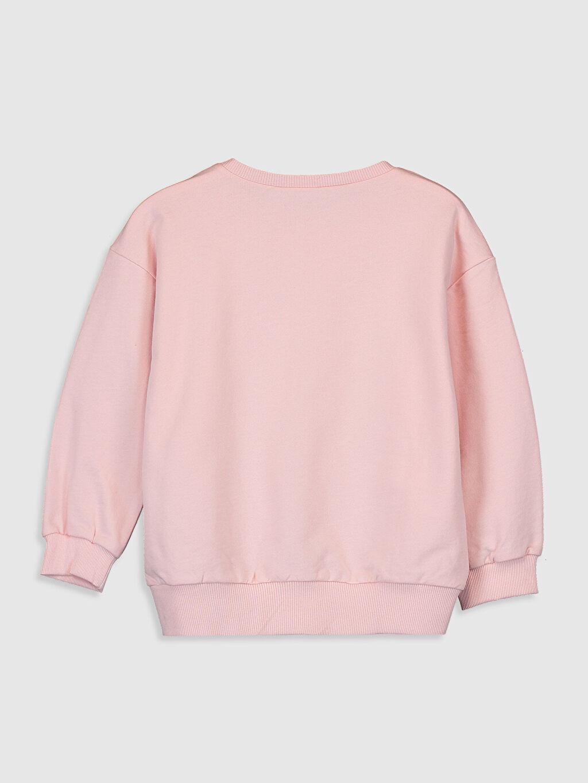 %100 Pamuk Kız Çocuk Pul İşlemeli Sweatshirt