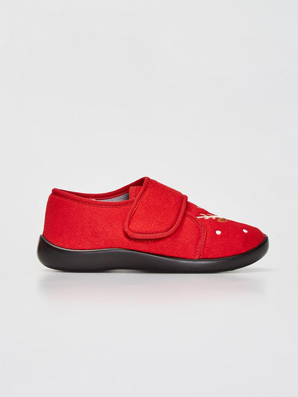 Kırmızı Erkek Çocuk Cırt Cırtlı Ev Ayakkabısı 9WU990Z4 LC Waikiki