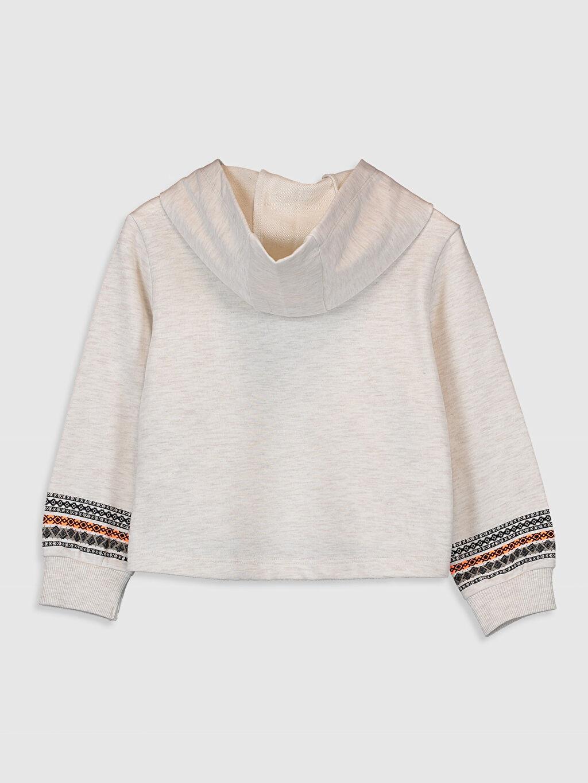 %44 Pamuk %56 Polyester Kapüşonlu Düz Kalın Sweatshirt Kumaşı Sweatshirt Kız Çocuk Baskılı Kapüşonlu Sweatshirt