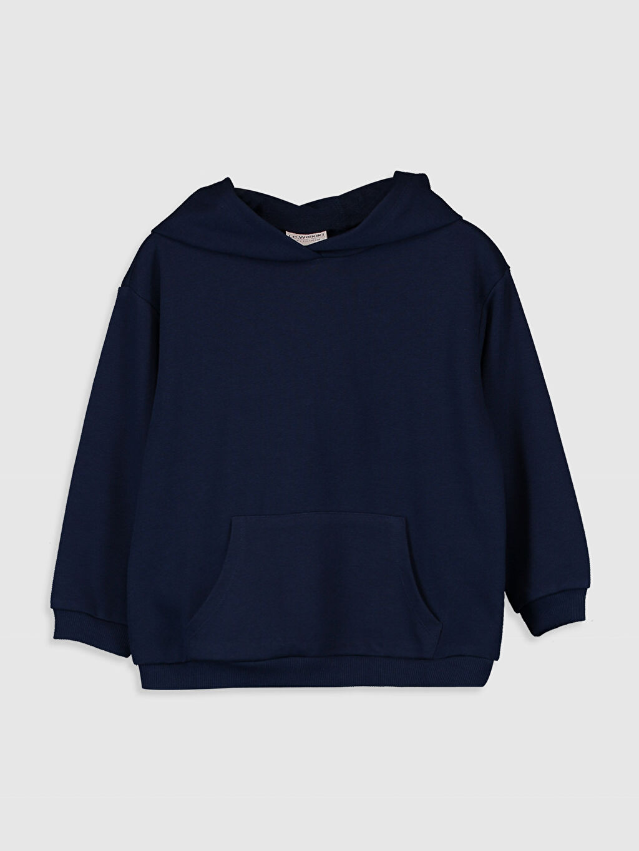 Lacivert Kız Çocuk Kapüşonlu Sweatshirt 9WA436Z4 LC Waikiki