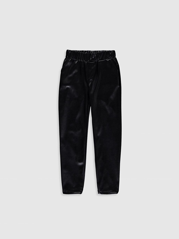 Siyah Kız Çocuk Deri Görünümlü Pantolon 9WB485Z4 LC Waikiki