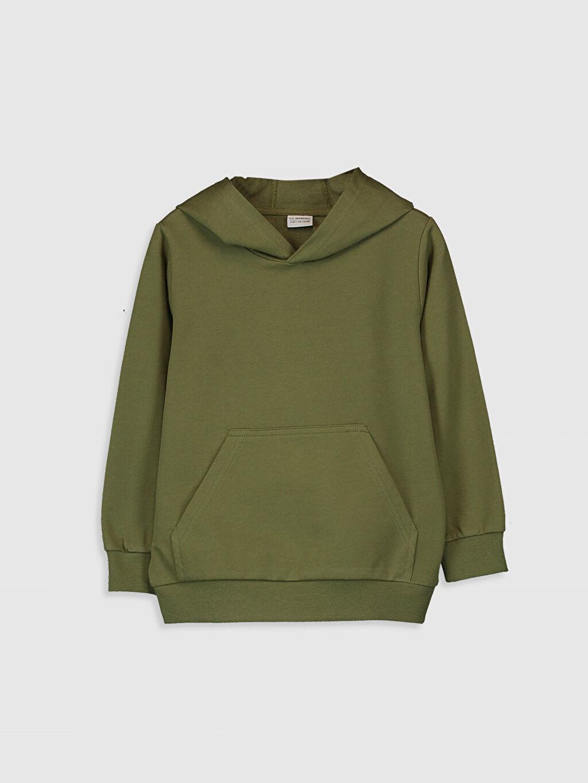 Yeşil Erkek Çocuk Kapüşonlu Sweatshirt 9WB708Z4 LC Waikiki