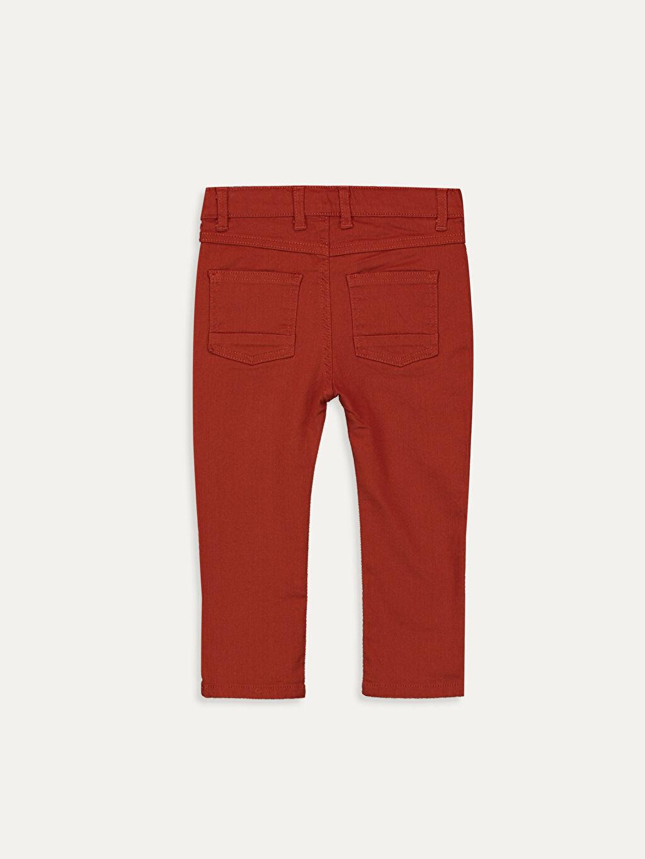%97 Pamuk %3 Elastan Astarsız Dar Beş Cep Pantolon Gabardin Aksesuarsız Erkek Bebek Slim Fıt Gabardin Pantolon