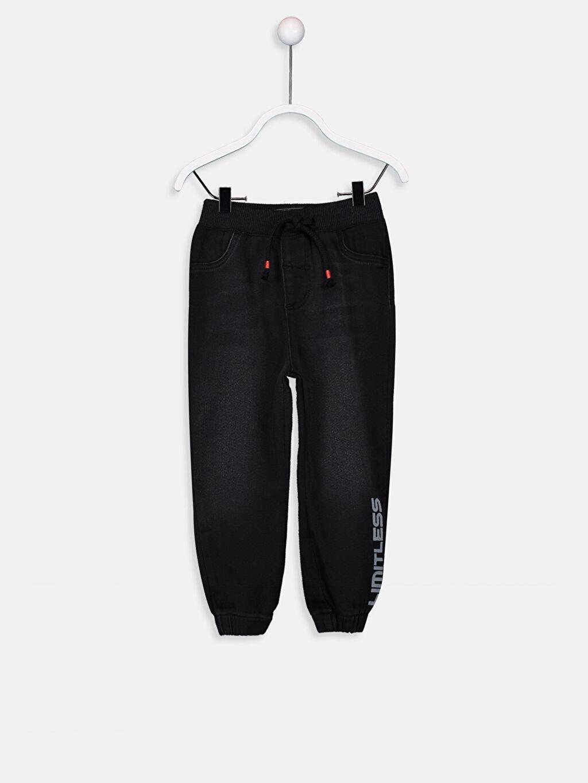 Siyah Erkek Bebek Jean Jogger Pantolon  9W1921Z1 LC Waikiki