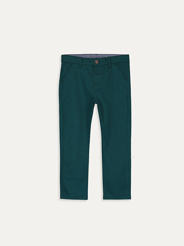 Yeşil Erkek Bebek Slim Fıt Gabardin Pantolon 9W2057Z1 LC Waikiki