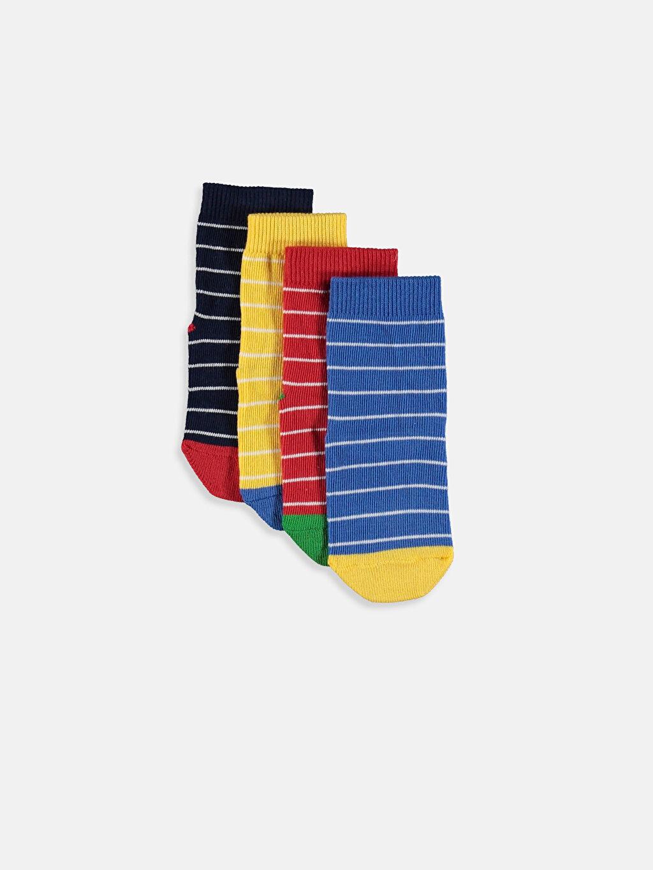 Çok Renkli Erkek Bebek Soket Çorap 4'lü 9W2112Z1 LC Waikiki