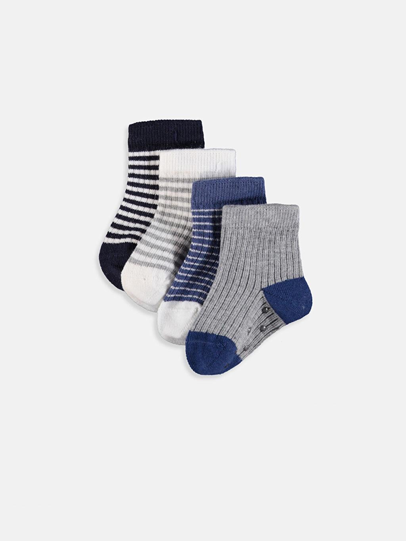 Lacivert Erkek Bebek Soket Çorap 4'lü 9W2118Z1 LC Waikiki