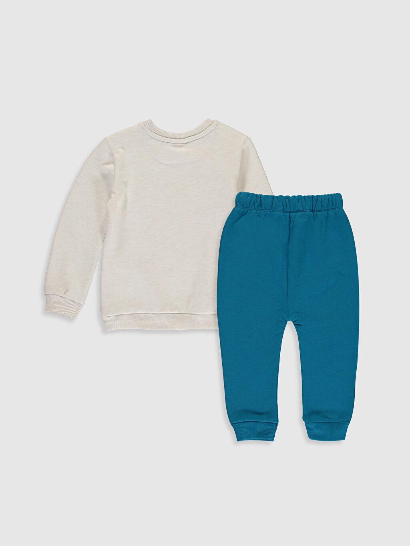 %54 Pamuk %46 Polyester %87 Pamuk %13 Polyester Uzun Kol Aksesuarsız Düz Takım Standart Günlük Orta Kalınlık Erkek Bebek Sweatshirt ve Pantolon