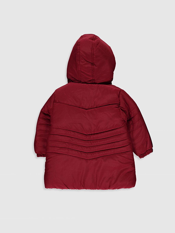 %100 Polyester %100 Polyester Kaban Kürk Astar Düz Uzun Kapüşonlu Kız Bebek Fermuar Kapamalı Kaban