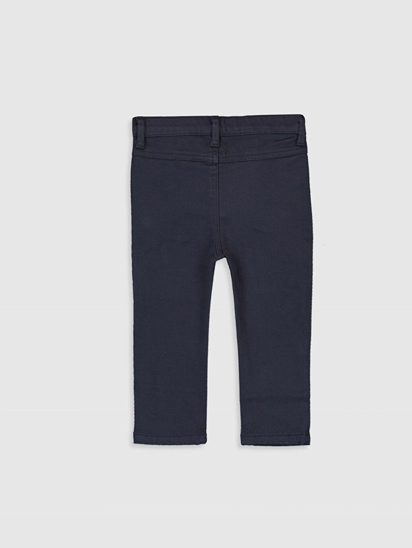 %81 Pamuk %17 Polyester %2 Elastan Dar Beş Cep Pantolon Gabardin Aksesuarsız Penye Astar Erkek Bebek Slim Fıt Kalın Pantolon