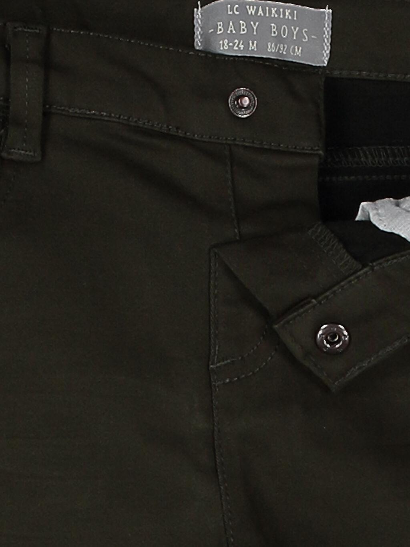 %81 Pamuk %17 Polyester %2 Elastan Erkek Bebek Slim Fıt Kalın Pantolon