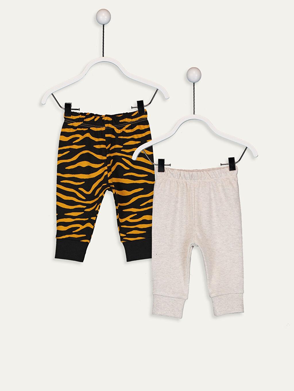Ekru Erkek Bebek Pijama Alt 2'li  9W3729Z1 LC Waikiki
