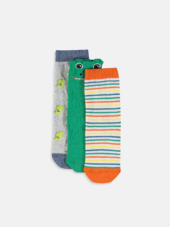 Çok Renkli Erkek Bebek Soket Çorap 3'lü 9W3747Z1 LC Waikiki