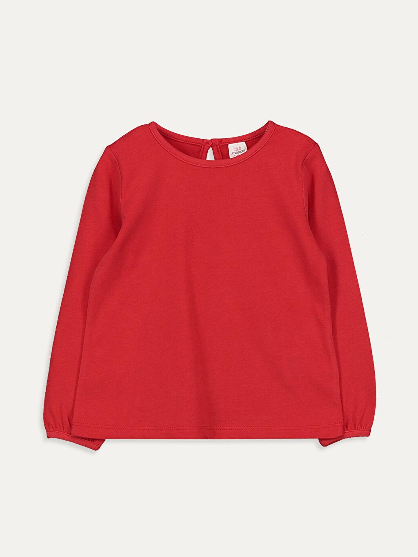 Kırmızı Kız Bebek Pamuklu Basic Tişört 9W5166Z1 LC Waikiki