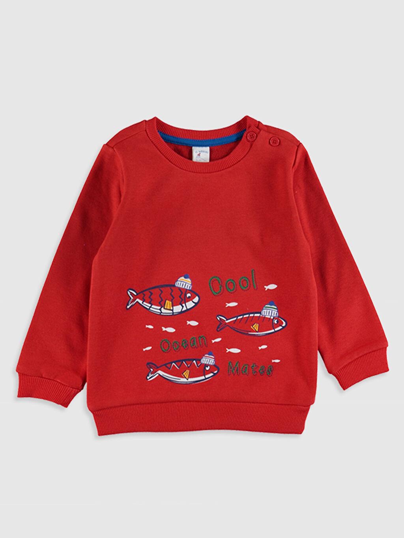 Erkek Bebek Erkek Bebek Desenli Sweatshirt ve Pantolon