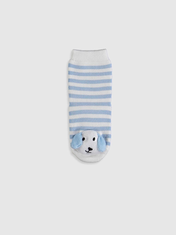 %88 Pamuk %11 Poliamid %1 Elastan Yüksek Pamuk İçerir Dikişli Baskılı Ev Çorabı Kalın Casual/Günlük Erkek Bebek Çizgili Aplikeli Ev Çorabı