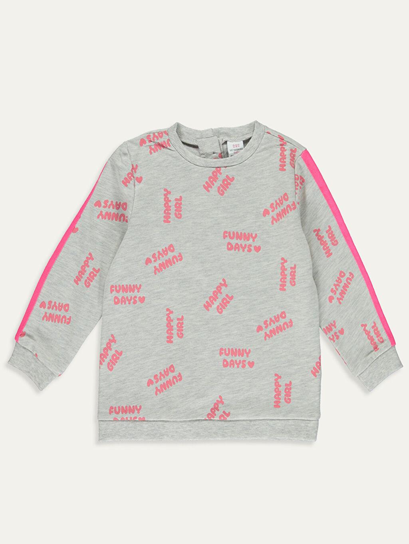 Kız Bebek Kız Bebek Yazı Baskılı Sweatshirt ve Tayt 2'li