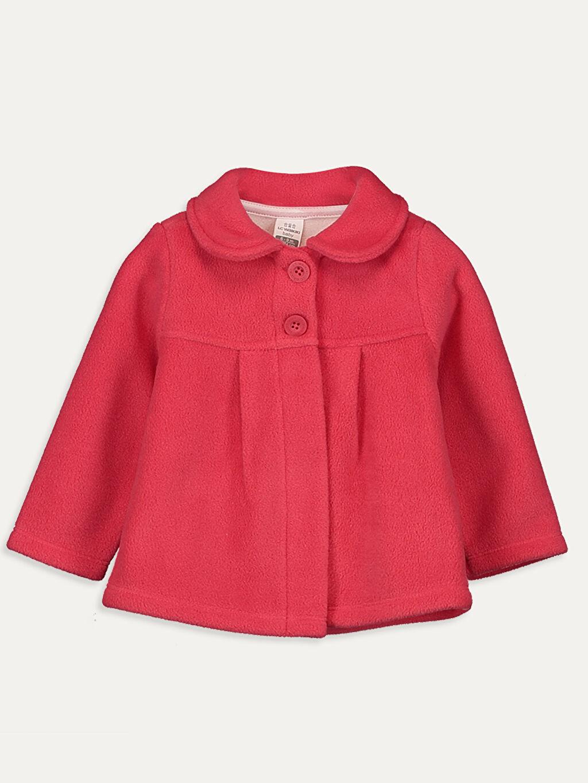 Kırmızı Kız Bebek Peluş Hırka 9W6581Z1 LC Waikiki