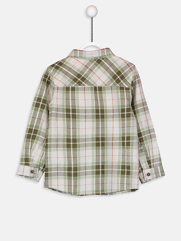%100 Pamuk %100 Pamuk Astarsız Uzun Kol Gabardin Tam Pat Aksesuarsız Gömlek Ekose Gömlek Standart Erkek Bebek Ekoseli Twill Gömlek