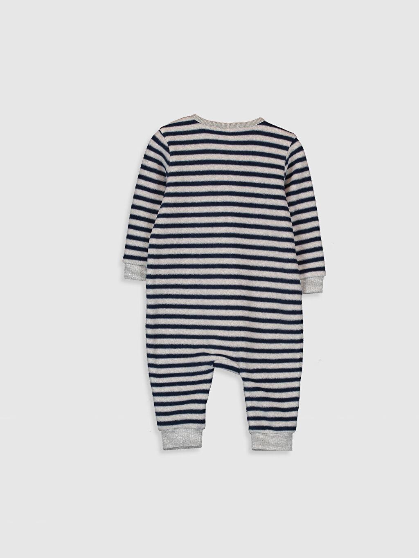 %100 Polyester Tulum Polar Erkek Bebek Çizgili Tulum