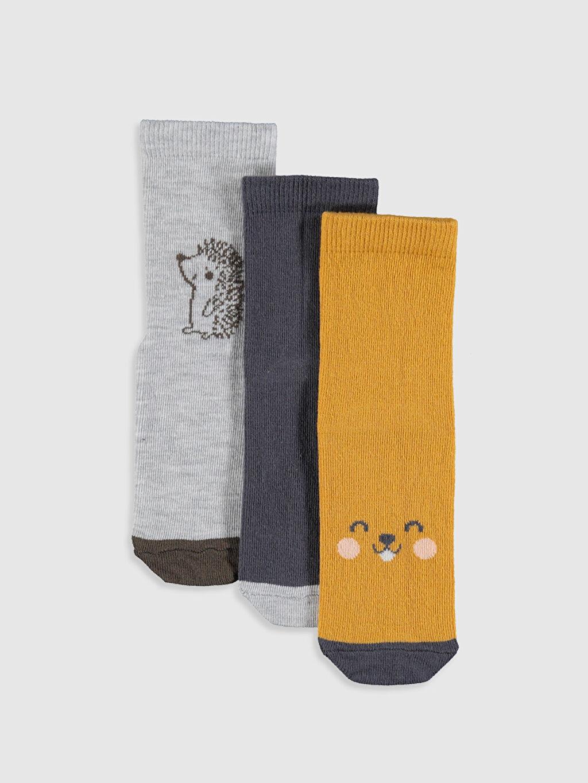 Çok Renkli Erkek Bebek Soket Çorap 3'lü 9W6677Z1 LC Waikiki
