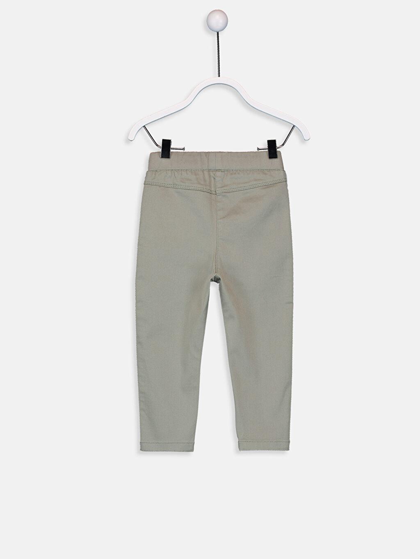 %88 Pamuk %8 Polyester %4 Elastan Smart Casual Saten Normal Bel Skinny Pantolon Düz Kız Bebek Pantolon
