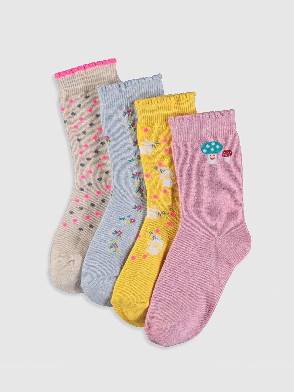 Pembe Kız Bebek Soket Çorap 4'lü 9W7178Z1 LC Waikiki