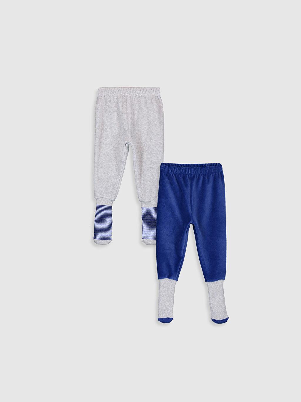 Mavi Erkek Bebek Kadife Çoraplı Pijama Alt 2'li 9W7190Z1 LC Waikiki