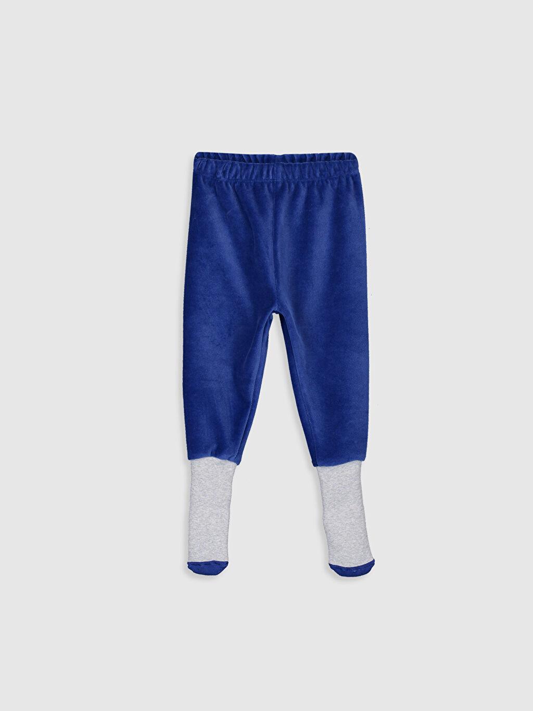 Erkek Bebek Erkek Bebek Kadife Çoraplı Pijama Alt 2'li