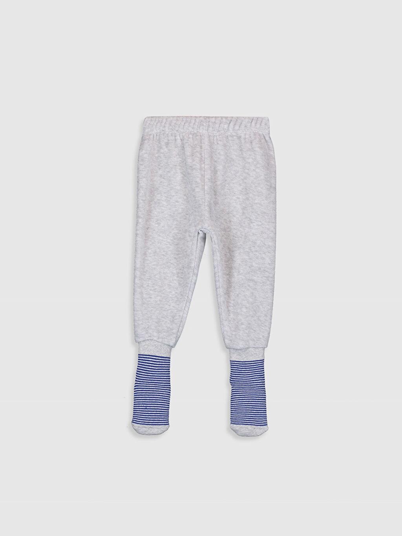 Erkek Bebek Kadife Çoraplı Pijama Alt 2'li