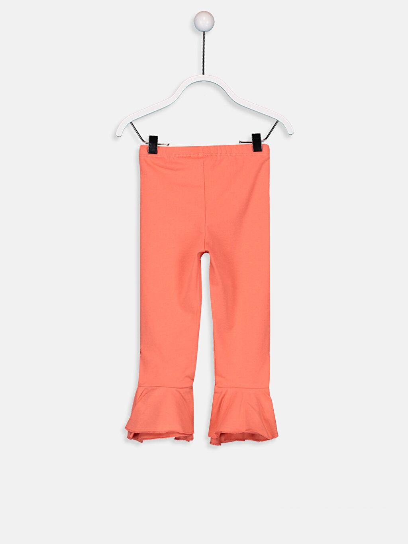 %94 Pamuk %6 Elastan Aksesuarsız Standart Normal Bel Pantolon Düz Süprem Kız Bebek Pamuklu Pantolon