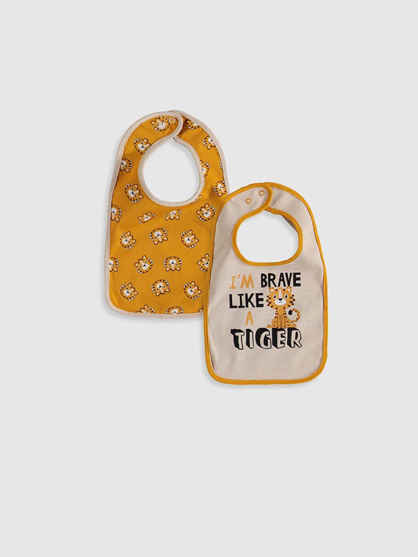 Bej Erkek Bebek Desenli Mama Önlüğü 2'li 9W7793Z1 LC Waikiki