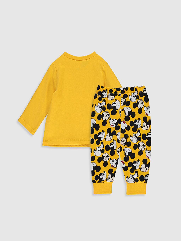 %100 Pamuk %100 Pamuk %100 Pamuk Pijama Takım İnce Sweatshirt Kumaşı Standart Erkek Bebek Mickey Mouse Baskılı Pijama Takımı