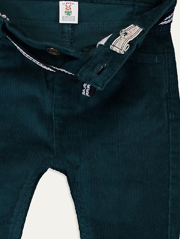 Erkek Bebek Erkek Bebek Kadife Pantolon ve Kemer