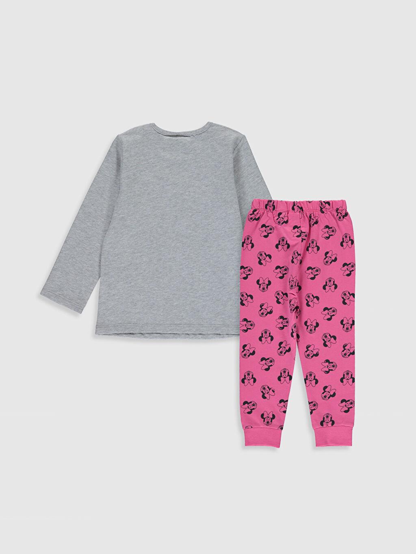 %100 Pamuk %100 Pamuk %100 Pamuk İnce Sweatshirt Kumaşı Standart Pijama Takım Kız Bebek Minnie Mouse Baskılı Pijama Takımı
