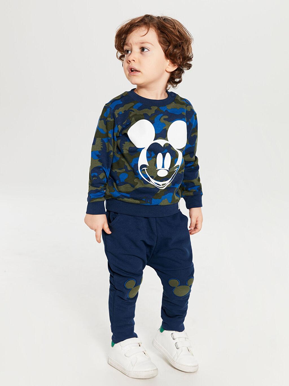 Lacivert Erkek Bebek Sweatshirt ve Pantolon 9W9009Z1 LC Waikiki