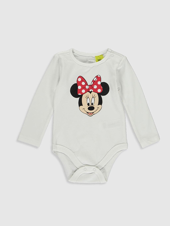 Kız Bebek Yenidoğan Minnie Mouse Desenli Takım 3'lü