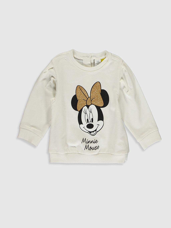 Kız Bebek Kız Bebek Minnie Mouse Baskılı Sweatshirt ve Pantolon