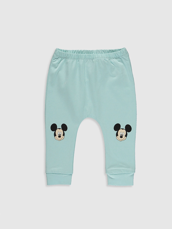 Erkek Bebek Yenidoğan Mickey Mouse Baskılı Alt 2'li