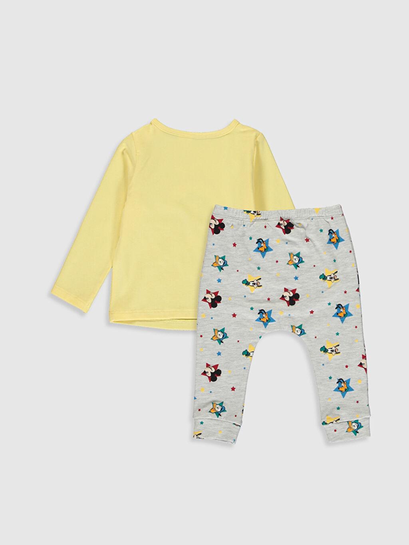 %98 Pamuk %2 Polyester %94 Pamuk %3 Polyester %3 Elastan %94 Pamuk %6 Elastan Bere Patiksiz Takım Penye Erkek Bebek Mickey Mouse Baskılı Takım 3'lü