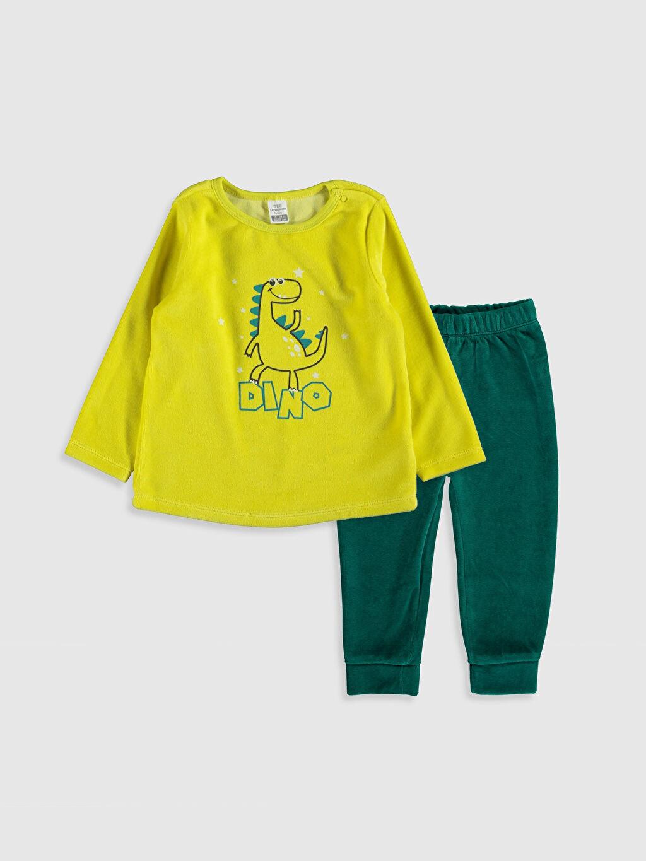 Yeşil Erkek Bebek Tişört ve Pantolon 9WI469Z1 LC Waikiki