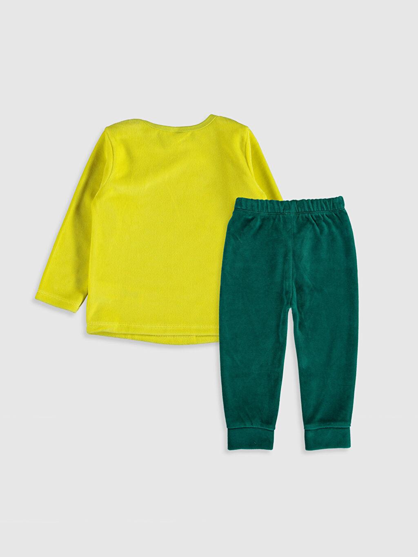 %78 Pamuk %22 Polyester %78 Pamuk %22 Polyester Kadife Pijama Takım Erkek Bebek Tişört ve Pantolon
