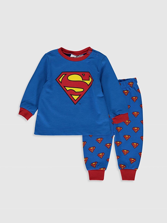 Mavi Erkek Bebek Süperman Baskılı Pijama Takımı 9WI511Z1 LC Waikiki