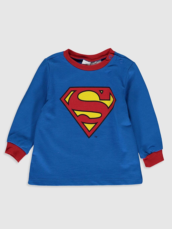 Erkek Bebek Erkek Bebek Süperman Baskılı Pijama Takımı