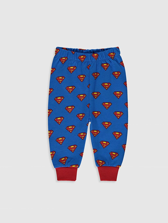 Erkek Bebek Süperman Baskılı Pijama Takımı