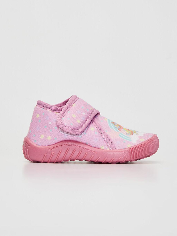 Pembe Kız Bebek Cırt Cırtlı Ev Ayakkabısı 9WI684Z1 LC Waikiki