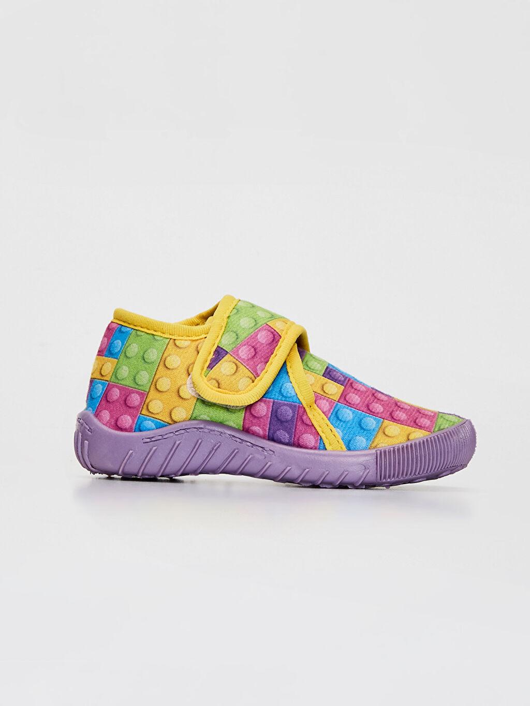 Çok Renkli Kız Bebek Cırt Cırtlı Ev Ayakkabısı 9WI687Z1 LC Waikiki