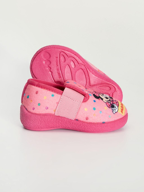 Kız Bebek Kız Bebek Minnie Mouse Baskılı Panduf